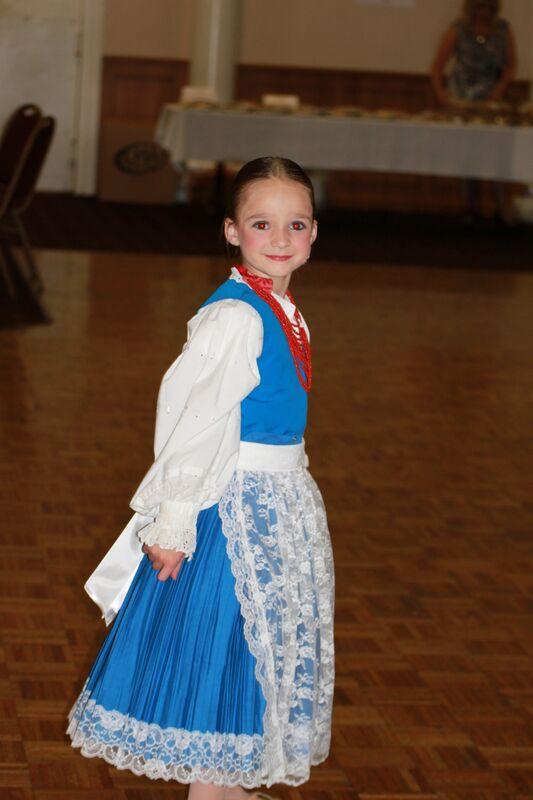 Croatian girl in traditional dress