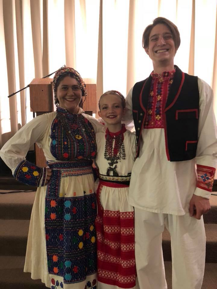 Ohio Dance team of Croatian dancers