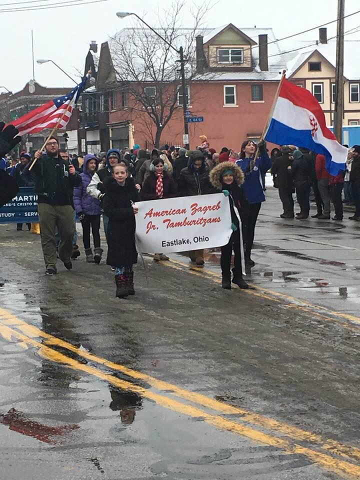 American Zagreb Junior Tamburitzans in parade