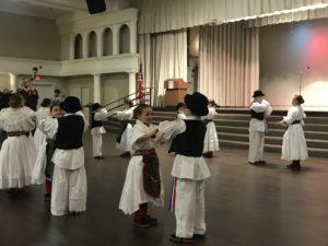 Kids dancing traditional croatian danc